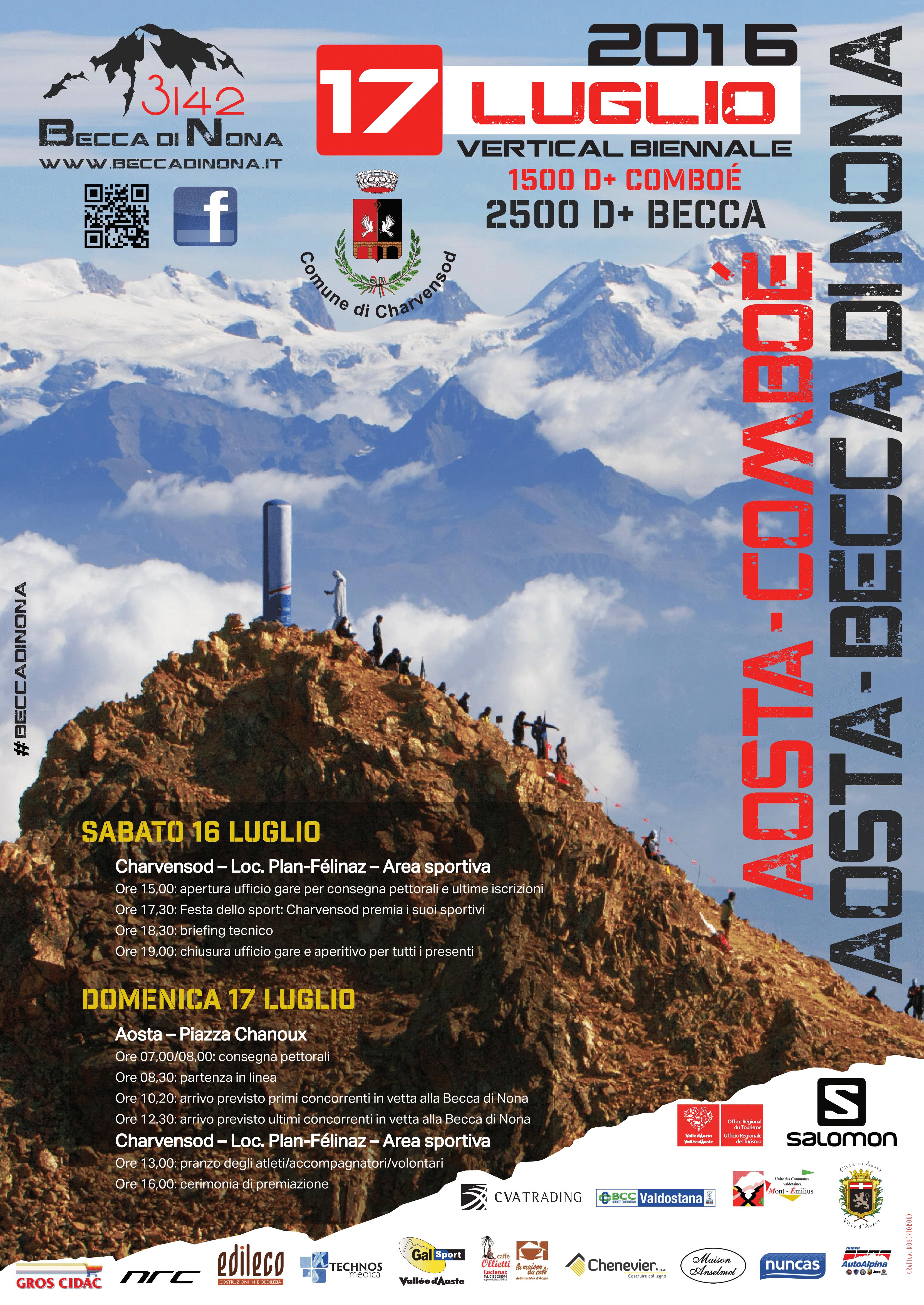 Locandina Aosta - Becca di Nona