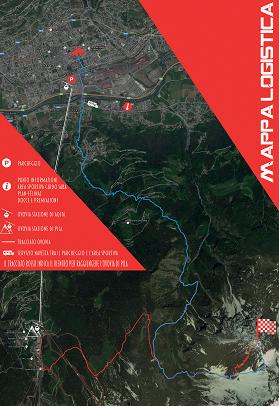 Mappa logistica Aosta - Becca di Nona